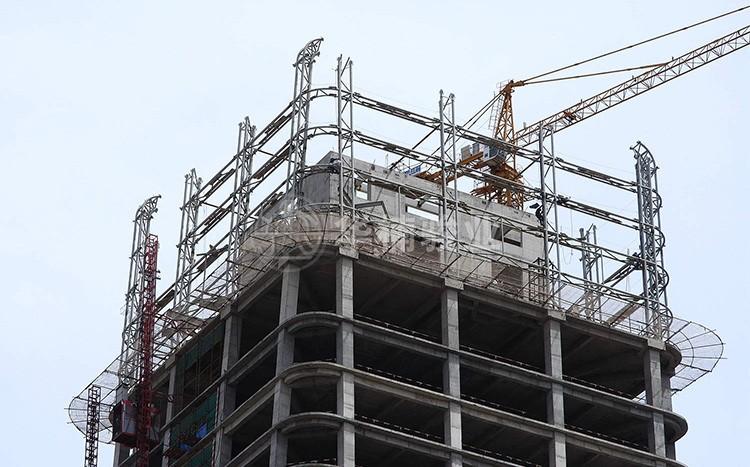 兰州鸿运大厦--顶楼拆模工程