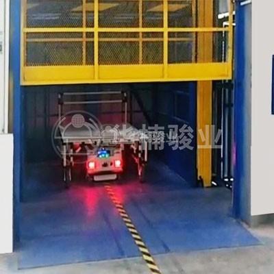 AGV小车自动进出货直顶式升降台系列
