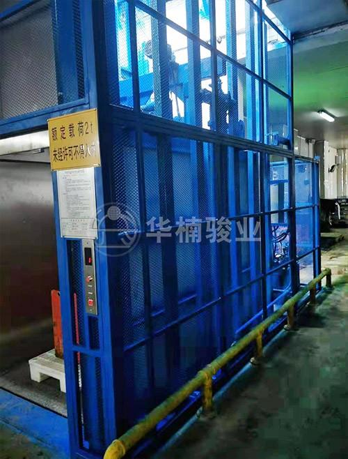 海南翔泰渔业股份有限公司定制升降机安装完毕