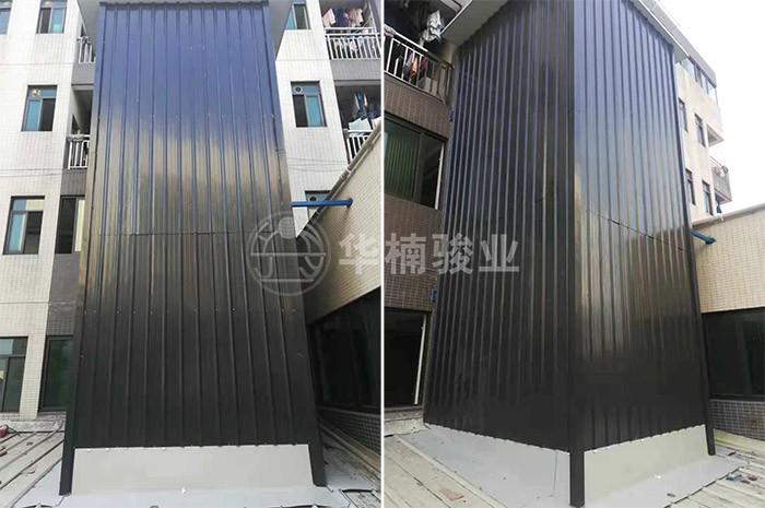 升广州市瑞高包装公司定制直顶式升降机安装