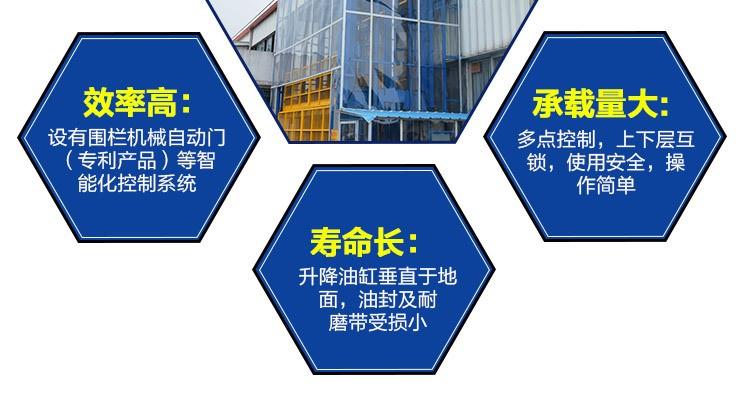 厂家现货批发标准型导轨式简易货梯升降机 定制升降货梯升降平台